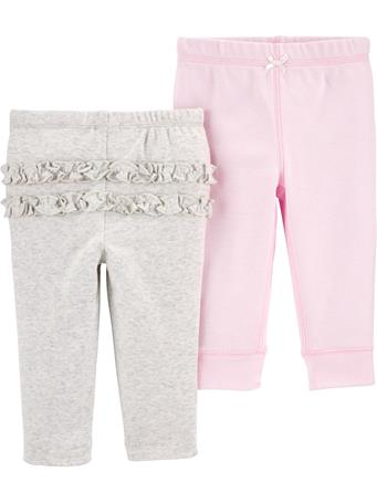 CARTERS - 2-Pack Cotton Pants PINK GREY