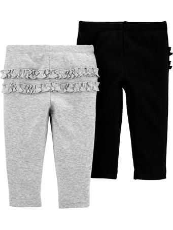 CARTERS - 2-Pack Cotton Pants BLACK GREY