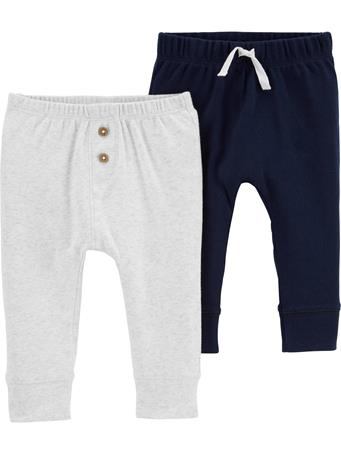CARTERS - 2-Pack Cotton Pants NAVY OATMEAL