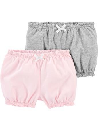 CARTERS - 2-Pack Bubble Shorts PINK GREY