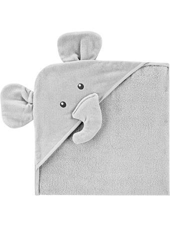 CARTERS - Elephant Hooded Towel GREY