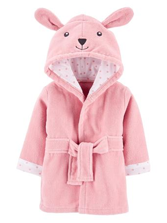 CARTERS - Bunny Hooded Bath Robe PINK YELLOW