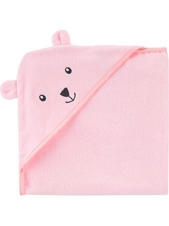 CARTERS - Bear Hooded Towel PINK