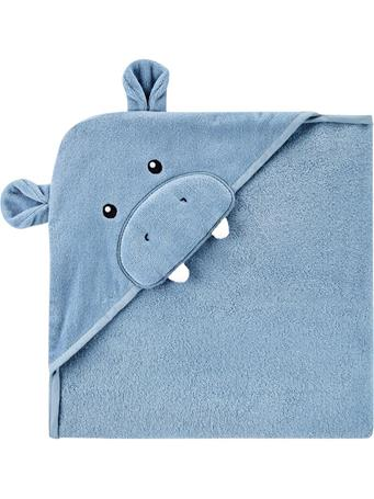 CARTERS - Hippo Hooded Towel BLUE
