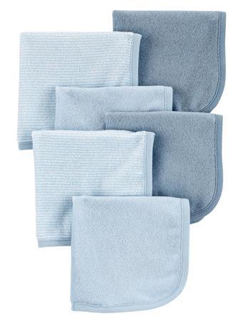 CARTERS - 6-Pack Wash Cloths NO COLOR