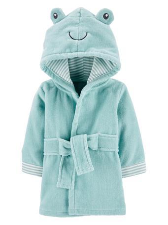 CARTERS - Frog Hooded Bath Robe GREEN