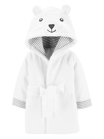 CARTERS - Bear Hooded Bath Robe IVORY
