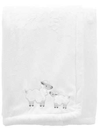 CARTERS - Lamb Fuzzy Plush Blanket IVORY