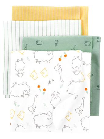 CARTERS - 4-Pack Receiving Blankets NO COLOR