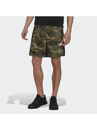 ADIDAS - AEROREADY  Designed to Move Sport Camo-Print Shorts ORBIT GREEN
