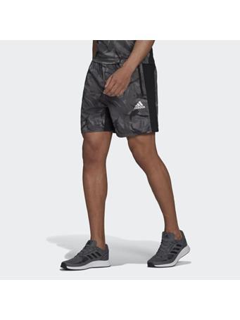 ADIDAS - AEROREADY  Designed to Move Sport Camo-Print Shorts GREY
