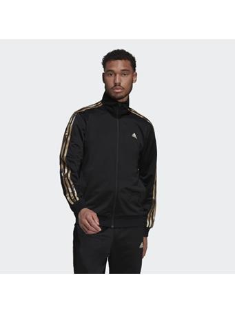 ADIDAS - Primegreen Essentials Warm-Up 3-Stripes Camo Track Jacket BLACK