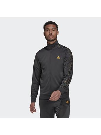 ADIDAS - Primegreen Essentials Warm-Up 3-Stripes Camo Track Jacket DK GREY