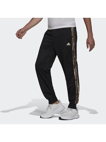 ADIDAS - Primegreen Essentials Warm-Up Tapered 3-Stripes Camo Track Pants BLACK