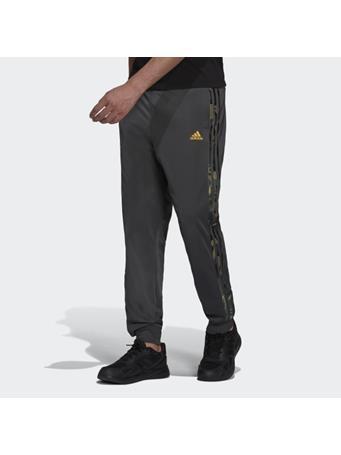 ADIDAS - Primegreen Essentials Warm-Up Tapered 3-Stripes Camo Track Pants DK GREY