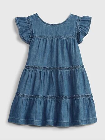 GAP - Baby Tiered Dress MEDIUM WASH