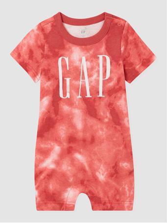 GAP - Baby Tie-Dye Gap Logo Shortie One-Piece EARTHENWARE RED 327