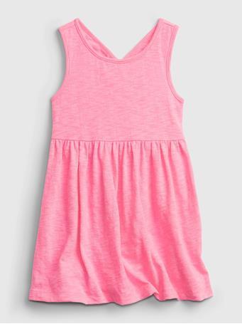 GAP - Toddler Cross-Back Skater Dress NEON IMPULSIVE PINK