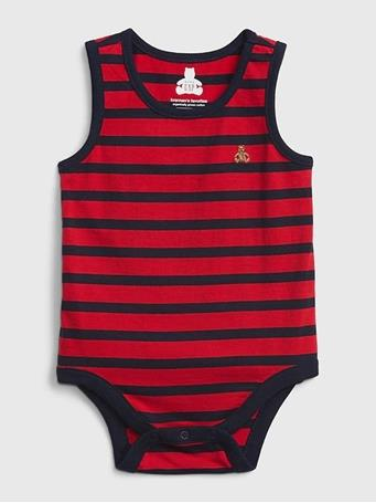 GAP - Baby 100% Organic Cotton Mix and Match Stripe Bodysuit RED BLUE STRIPE