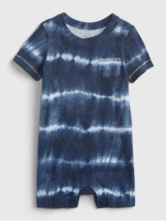 GAP - Baby Tie-Dye Shorty One-Piece ELYSIAN-BLUE
