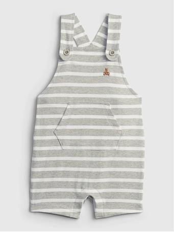 GAP - Baby Stripe Overalls HEATHER GREY STRIPE