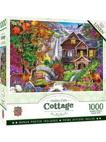 MASTER PIECES - Hidden Falls Cottage 1000Pc NO COLOR