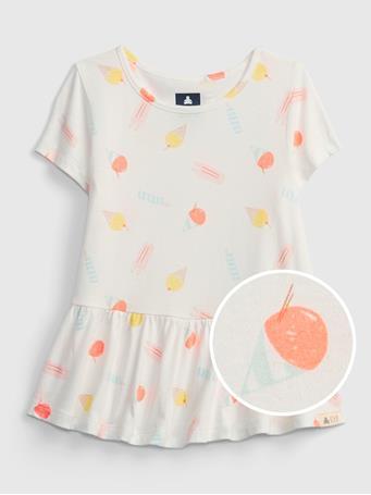 GAP - Toddler 100% Organic Cotton Mix and Match Print Tunic Top ICE CREAM