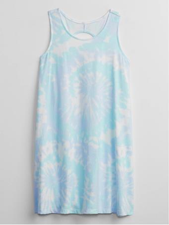 GAP - Kids Print Swing Dress BLUE TIE DYE