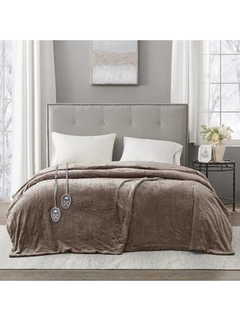 BEAUTYREST - Heated Plush Blanket MINK
