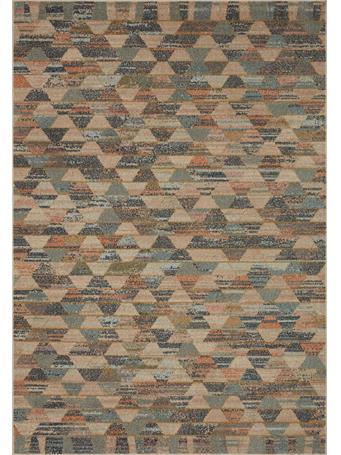 JUSTINA BLAKENEY X LOLOI -  Chalos Rug Collection NATURAL / MULTI