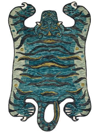 JUSTINA BLAKENEY X LOLOI -  Feroz Rug Collection TEAL