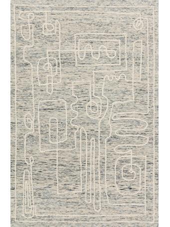 JUSTINA BLAKENEY X LOLOI -  Leela Rug Collection SKY/WHITE