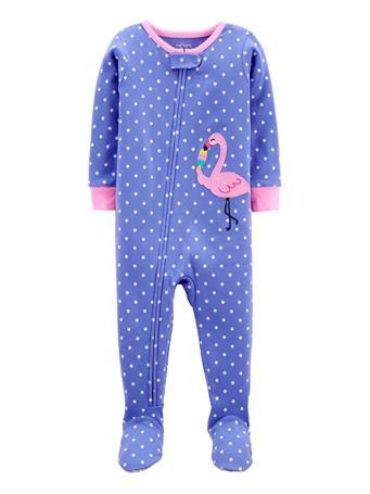 CARTERS - 1-Piece Flamingo 100% Snug Fit Cotton Footie PJs PURPLE
