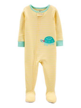 CARTERS - 1-Piece Yellow 100% Snug Fit Cotton Footie PJs YELLOW