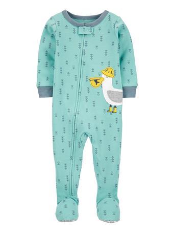 CARTERS - 1-Piece Pelican 100% Snug Fit Cotton Footed PJs BLUE