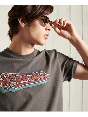 SUPERDRY - Boho Box Fit Graphic T-Shirt DUSKY GREY