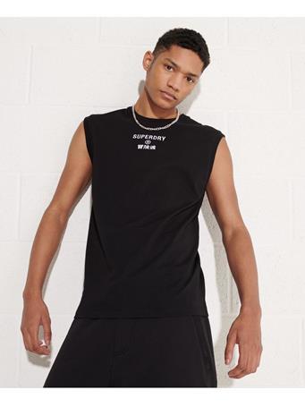 SUPERDRY - Corporate Logo Vest BLACK
