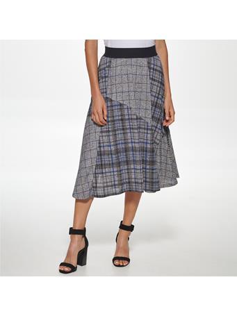 CALVIN KLEIN - Printed Pull On Skirt BLK/CHA MULTI