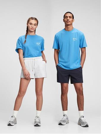 GAP - 100% Organic Cotton Graphic T-Shirt NORTHERN BLUE
