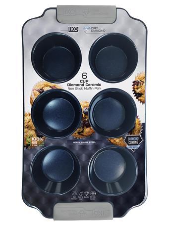 IKO - Diamond Muffin Pan 6 Cup BLUE