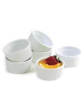 NORPRO - 4 Oz Porcelain Ramekins 6 Piece Set - White No Color