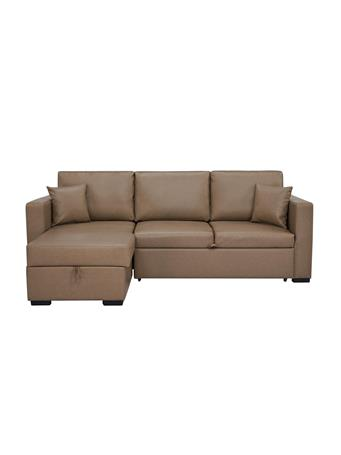 PARK SLOPE - Sleeper Sofa with Storage & Chaise LAF CAMEL