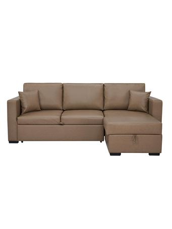 PARK SLOPE - Sleeper Sofa with Storage & Chaise RAF CAMEL