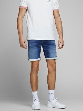 JACK & JONES - Rick Icon Indigo Knit Denim Shorts Blue Denim