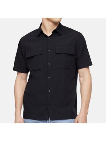 CALVIN KLEIN - Stretch Double Pocket Shirt 001 BLACK