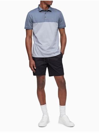 CALVIN KLEIN - Liquid Touch Colorblock Stripe Polo Shirt 031 TURBULENCE