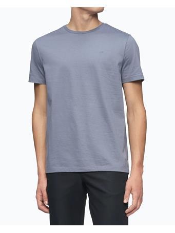 CALVIN KLEIN - Liquid Touch Solid Crewneck T-Shirt 034 GRAPHITE