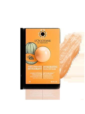 L'OCCITANE - Invigorating Face & Eye Mask Pod Melon