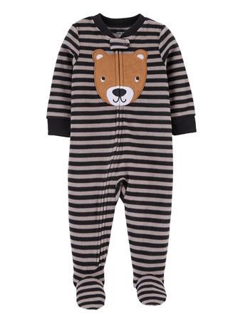 CARTERS - 1-Piece Bear Fleece Footie PJs GREY