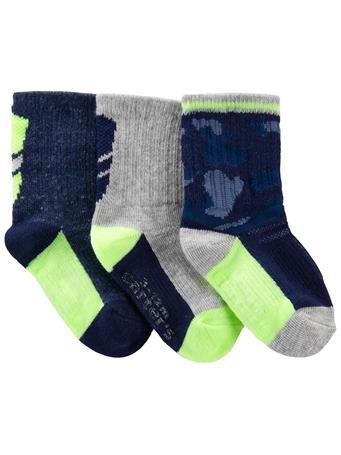 CARTERS - 3-Pack Athletic Socks NO COLOR